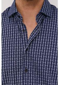 Baldessarini - Koszula. Typ kołnierza: kołnierzyk klasyczny. Kolor: niebieski. Materiał: włókno, materiał, tkanina, dzianina, bawełna. Długość rękawa: krótki rękaw. Długość: krótkie. Styl: klasyczny #4