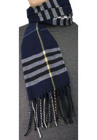 Szalik EM Men's Accessories w kratkę, na zimę