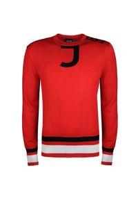 Sweter Roberto Cavalli z okrągłym kołnierzem, na co dzień, casualowy