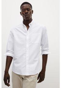 Biała koszula Mango Man z długim rękawem, button down, na co dzień