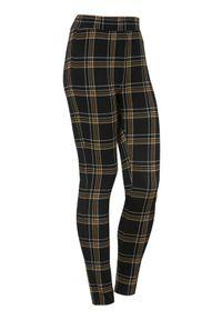 Cellbes Żakardowe legginsy w kratkę Czarny w kratkę female czarny/ze wzorem 38/40. Kolor: czarny. Materiał: żakard. Wzór: kratka