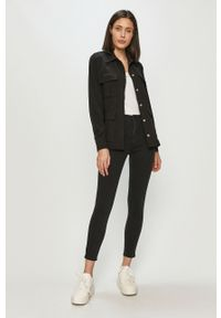Czarne jeansy Calvin Klein Jeans z podwyższonym stanem #4