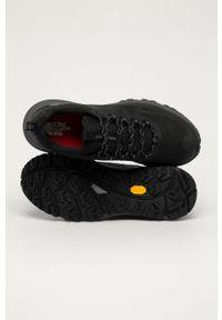 Czarne sneakersy The North Face z cholewką, na sznurówki, trekkingowe, z okrągłym noskiem