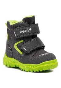 Superfit - Śniegowce SUPERFIT - GORE-TEX 1-000047-20 M Grau/Grun. Okazja: na spacer. Kolor: zielony. Materiał: skóra, zamsz, materiał. Szerokość cholewki: normalna. Sezon: zima, jesień