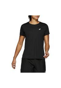Koszulka damska do biegania Asics Silver SS 2012A029. Materiał: materiał, syntetyk, tkanina. Długość rękawa: krótki rękaw. Długość: krótkie