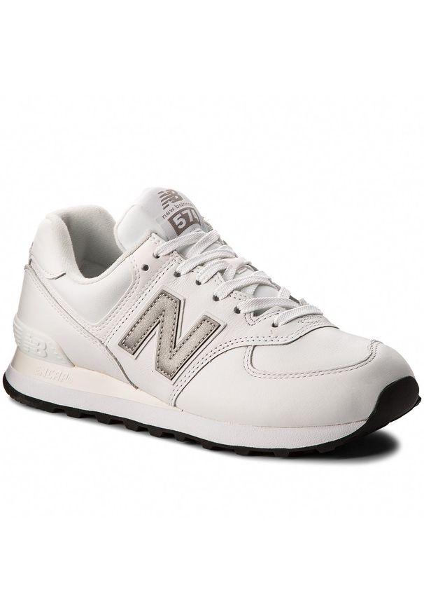 Białe półbuty New Balance z cholewką, klasyczne