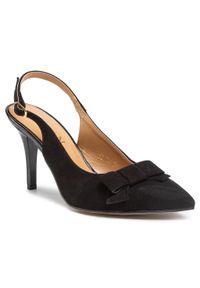 Czarne sandały sagan eleganckie