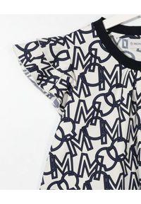 MONCLER KIDS - Bawełniana koszulka z monogramem 4-10 lat. Kolor: biały. Materiał: bawełna. Wzór: aplikacja. Sezon: lato