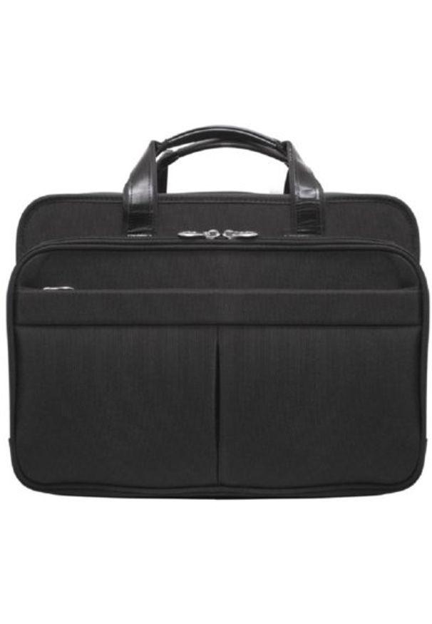 Torba na laptopa MCKLEIN Walton 17 cali Czarny. Kolor: czarny. Materiał: nylon. Styl: biznesowy