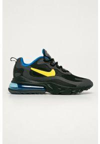 Czarne sneakersy Nike Sportswear z cholewką, na sznurówki, z okrągłym noskiem