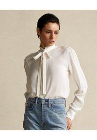 Biała koszula Ralph Lauren z długim rękawem, długa, klasyczna