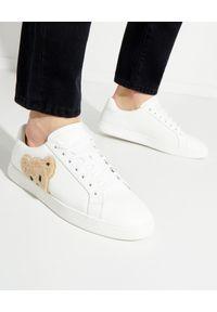 PALM ANGELS - Skórzane sneakersy Teddy Bear. Kolor: biały. Materiał: skóra. Szerokość cholewki: normalna. Wzór: aplikacja