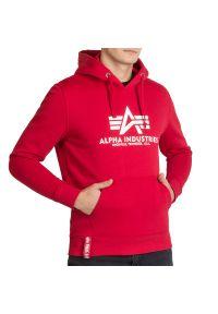 Alpha Industries Basic Hoody > 178312328. Materiał: bawełna, poliester. Wzór: nadruk