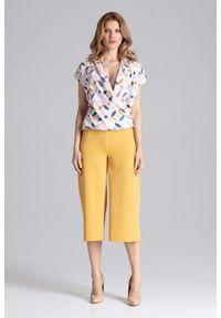 Żółte spodnie Figl eleganckie
