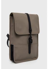 Rains - Plecak 1366 Backpack Micro. Kolor: brązowy