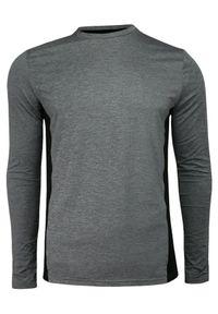 Szary T-shirt (Koszulka), Długi Rękaw, Longsleeve -Brave Soul- Męski, Termoaktywny, Wyszczuplający. Okazja: na co dzień. Kolor: szary. Materiał: poliester, elastan. Długość rękawa: długi rękaw. Długość: długie. Styl: casual, sportowy