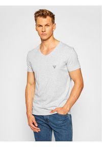 Guess T-Shirt U97M01 JR003 Szary Slim Fit. Kolor: szary