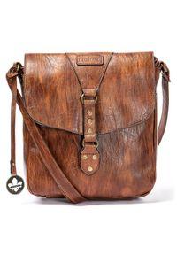 Rieker - RIEKER H1120-22 brown, torebka, listonoszka damska. Kolor: brązowy. Materiał: skórzane