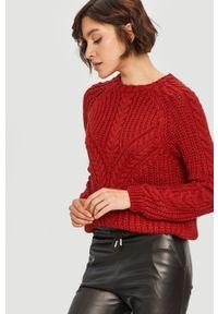 Czerwony sweter Answear Lab długi, wakacyjny