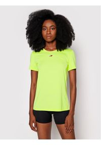 TOMMY HILFIGER - Tommy Hilfiger Koszulka techniczna Fabric Mix S10S101057 Żółty Regular FIt. Kolor: żółty