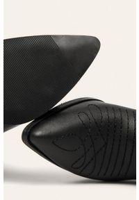 Czarne botki ANSWEAR na zamek, z cholewką #5