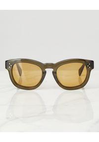 Zielone okulary przeciwsłoneczne
