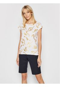 Lauren Ralph Lauren T-Shirt Ssl 200817470002 Biały Regular Fit. Kolor: biały