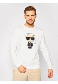 Karl Lagerfeld - KARL LAGERFELD Bluza Sweat Crewneck 705040 502950 Biały Regular Fit. Typ kołnierza: dekolt w karo. Kolor: biały