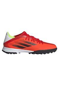 Adidas - Buty piłkarskie dla dzieci adidas X Speedflow.3 TF JR FY3321. Zapięcie: sznurówki. Materiał: materiał. Szerokość cholewki: normalna. Sport: piłka nożna