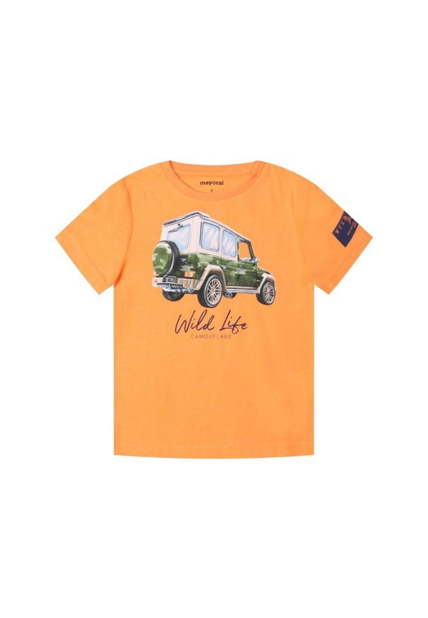 Pomarańczowy t-shirt Mayoral