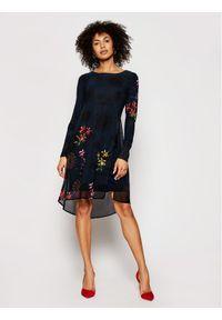 Desigual Sukienka codzienna Gabrielle 21SWVWAT Czarny Regular Fit. Okazja: na co dzień. Kolor: czarny. Typ sukienki: proste. Styl: casual