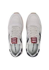 Jack & Jones - Sneakersy JACK&JONES - Jfwstellar Mesh 2.0 12184141 Winter White. Okazja: na co dzień. Kolor: szary. Materiał: skóra ekologiczna, materiał. Szerokość cholewki: normalna. Styl: sportowy, casual