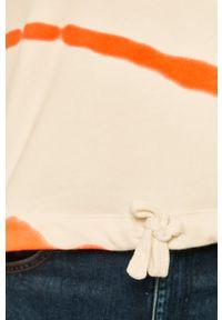Biała bluza only z okrągłym kołnierzem, casualowa, na co dzień