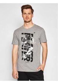 4f - 4F T-Shirt H4L21-TSM011 Szary Regular Fit. Kolor: szary