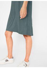 Sukienka z dżerseju, krótki rękaw bonprix zielony eukaliptusowy. Kolor: zielony. Materiał: jersey. Długość rękawa: krótki rękaw