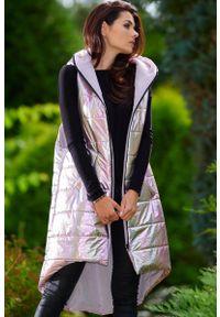 Różowa kurtka pikowana Awama z kapturem