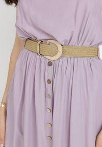 Born2be - Liliowa Sukienka Cherinoe. Kolor: fioletowy