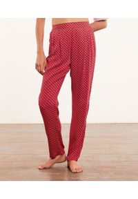 Tifani Spodnie Od Piżamy Z Nadrukiem - M - Czerwony - Etam. Kolor: czerwony. Wzór: nadruk