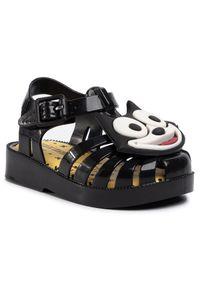 Czarne sandały melissa z aplikacjami, casualowe