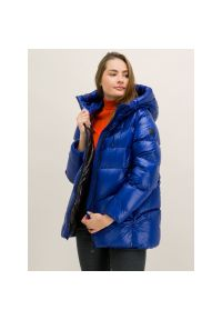 Niebieska kurtka puchowa Woolrich