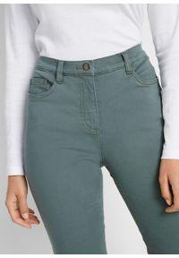 Zielone jeansy bonprix w kolorowe wzory