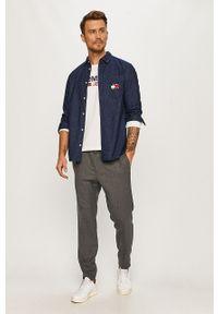Niebieska koszula Tommy Jeans klasyczna, z klasycznym kołnierzykiem