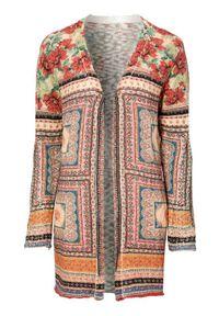 Cellbes Kardigan z bawełny w kwiaty kolorowy we wzory female ze wzorem 54/56. Materiał: bawełna. Wzór: kolorowy