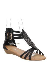 Casu - sandały casu m138. Kolor: czarny