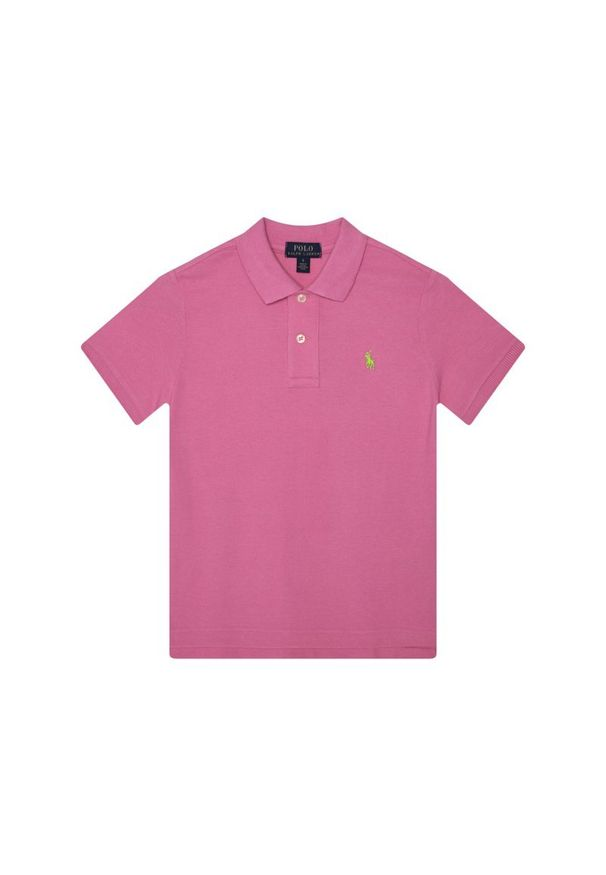 Różowy t-shirt polo Polo Ralph Lauren polo