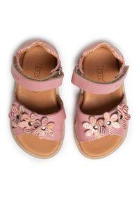 Różowe sandały Froddo casualowe, na co dzień, z aplikacjami, na lato