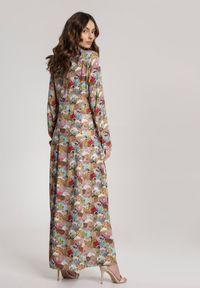Renee - Różowa Sukienka Bolimeni. Kolor: żółty