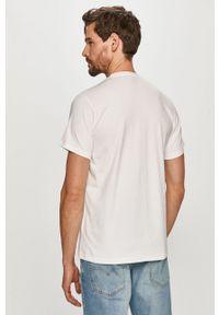 Biały t-shirt Ellesse z nadrukiem, na co dzień, casualowy