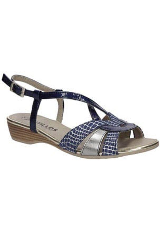 Niebieskie sandały Pitillos na lato