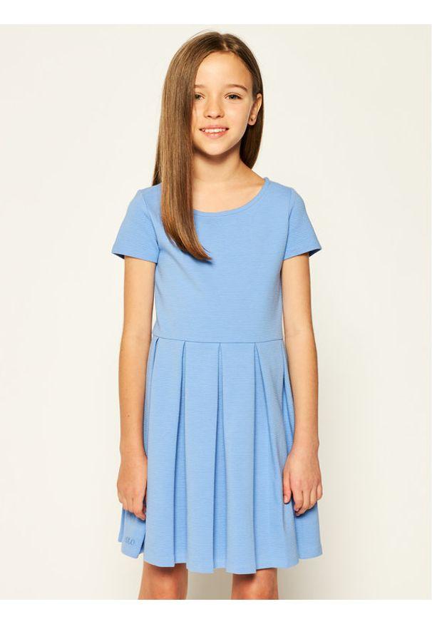 Niebieska sukienka Polo Ralph Lauren polo, prosta, na co dzień
